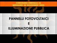 Pannelli FotoVoltaici per illuminazione pubblica - Provincia di ...