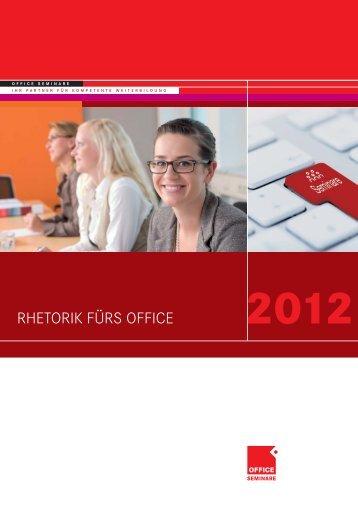Rhetorik fürs office.indd - OFFICE SEMINARE