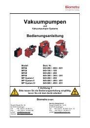 Vakuumpumpen - Biometra