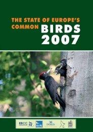 State of Europe's Common Birds, 2007 - European Bird Census ...