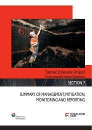 SECTION 7 SUMMARY OF MANAGEMENT, MITIGATION ...