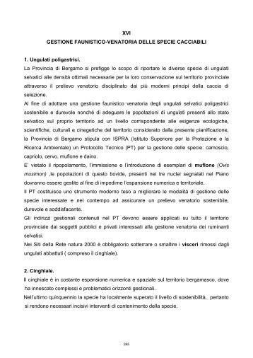 Gestione faunistico-venatoria delle specie cacciabili - Provincia di ...