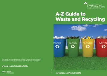 A-Z Guide to Waste and Recycling - Insight – University of ...