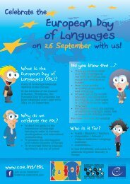 Download flyer - European Day of Languages - Ecml.at
