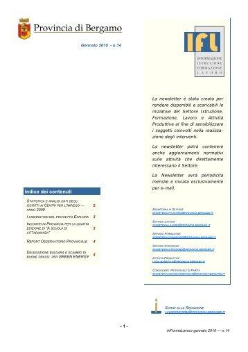 Scarica la newsletter n.14 .pdf 323K - Provincia di Bergamo