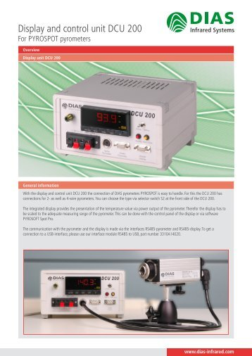 Display and control unit DCU 200 - DIAS Infrared Systems