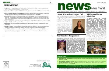ALUMNI NEWS - West Lutheran High School