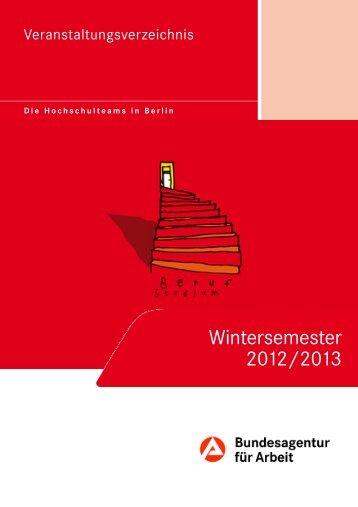 Wintersemester 2012/2013 - Berlin.de