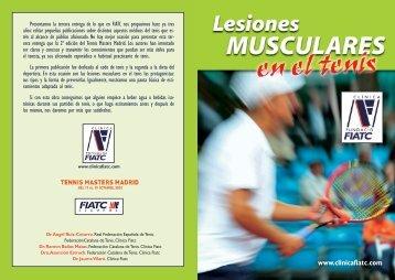 Lesiones musculares en el tenis - Real Federación Española de Tenis