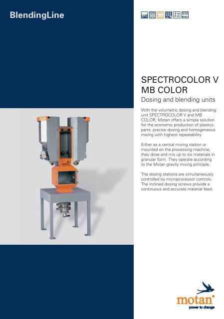 BlendingLine SPECTROCOLOR V MB COLOR OLOR V
