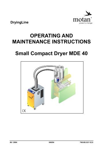 OPERATING AND MAINTENANCE INSTRUCTIONS Small Compact ...