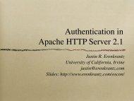 "AuthName ""Server Users"" - Justin Erenkrantz"
