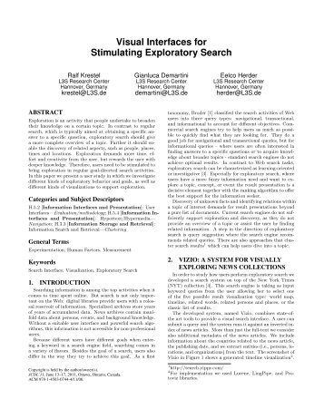 Visual Interfaces for Stimulating Exploratory Search