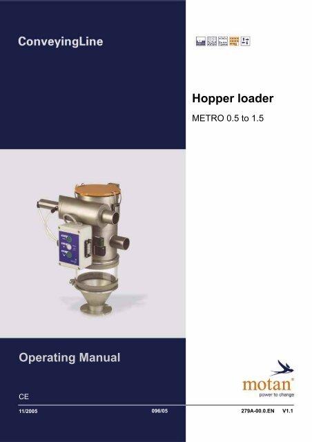 Operating Manual Hopper loader