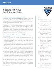 F-Secure Anti-Virus Small Business Suite