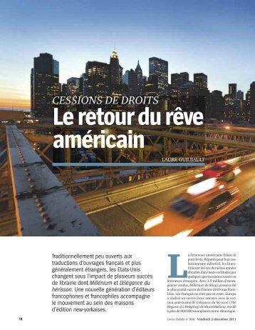 Le retour du rêve américain (2 décembre 2011) - Laure Guilbault Text