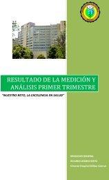 Plan de Acción I Trimestre 2011 - Hospital Militar