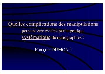 Quelles complications des manipulations peuvent être ... - sofmmoo