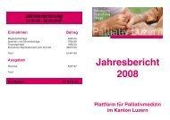 Jahresbericht 2008 - Palliativ Luzern