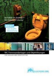 WC-Trennwandanlagen & Objekt- lösungen für Schulen & Sportstätten
