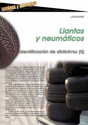 Los neumáticos como elementos básicos de la ... - Centro Zaragoza
