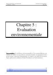 Chapitre 5 : Evaluation environnementale - Bertrix