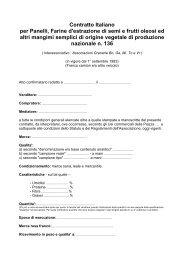 Panelli e farine semi oleo. estraz. naz. - Gruppo Lavoro Micotossine
