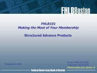 Structured Advance Products - Federal Home Loan Bank of Boston