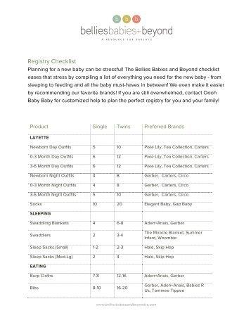 Baby Registry Checklist | The Ultimate Baby Registry Checklist Pinwheel