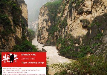 SPORTY YAK 2 DAYS TREK Tiger Leaping Gorge - The Yak Traveller