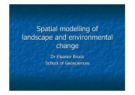 Spatial modelling of landscape and environmental change - EarthByte