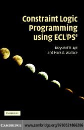 Constraint Logic Programming Using ECLiPSe