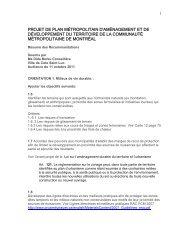 Mémoire présenté au plan métropolitain d'aménagement et de ...