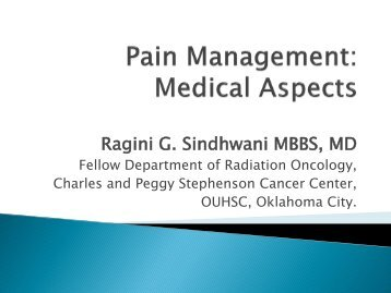 Pain Management - Legal Medicine and Medical Ethics 2010