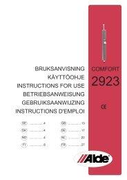 bruksanvisning käyttöohje instructions for use ... - Norrlandsvagnar