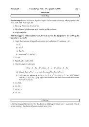 Matematik 1 Semesteruge 3 (15. - 19. september 2008) side 1 ...