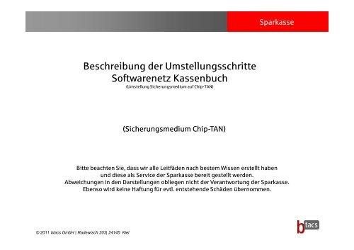 Softwarenetz Kassenbuch - Kreissparkasse Saalfeld-Rudolstadt