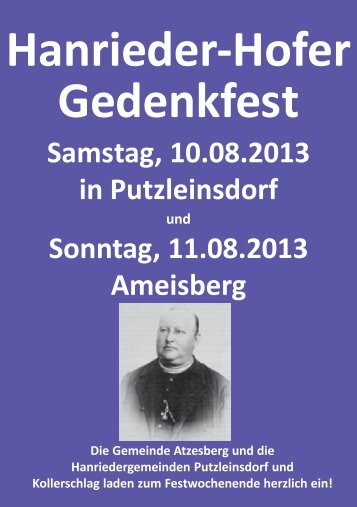 Einladung 110 Jahre Ameisbergwarte (1,52 MB) - .PDF - Oberkappel