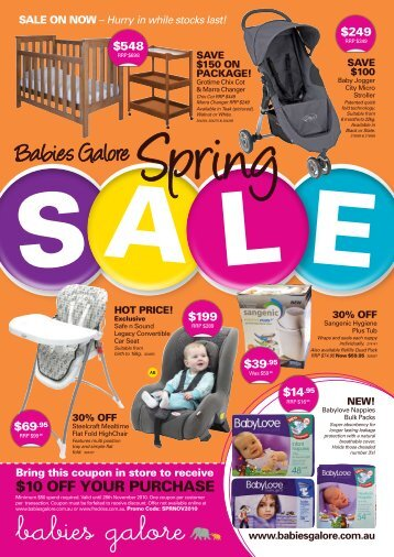 Hurry in while stocks last! - Babies Galore