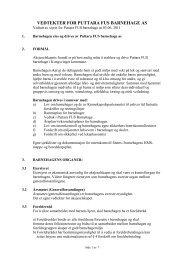 Vedtekter Puttara FUS barnehage, [171kb, pdf] - Kongsvinger ...