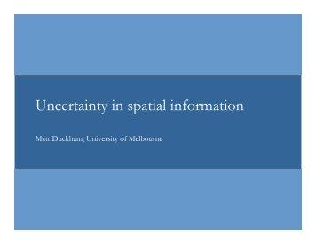 Uncertainty in spatial information