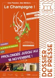 Le Champagne - Expositions