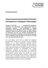Höchstpreise in Stuttgarter Höhenlagen - Ellwanger & Geiger