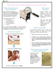 Flame Retardants in Baby Products: What You Can Do