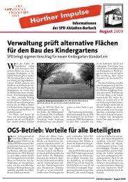 Hürther Impulse Alstädten-Burbach August 2009 - SPD Ortsverein ...