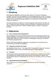 Reglement Städtlifest 2009 1 Einleitung 2 Allgemeines