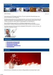 Newsletter Dezember 2012 - Zentrum Ländli