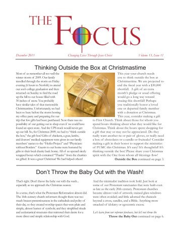Thinking Outside the Box at Christmastime Don't Throw the Baby Out ...