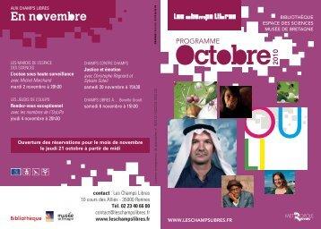 Programme mensuel octobre 2011 © P.O.L - Bibliothèque de ...