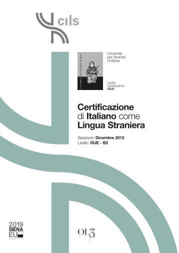 Certificazione di Italiano come Lingua Straniera